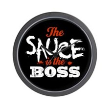 Boss Sauce Wall Clock