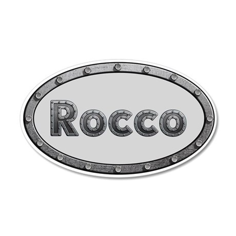 Rocco Metal Oval 20x12 Oval Wall Decal