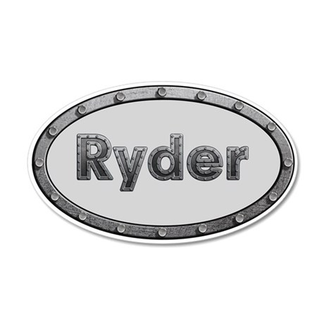 Ryder Metal Oval 20x12 Oval Wall Decal