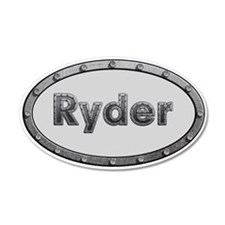 Ryder Metal Oval Wall Decal