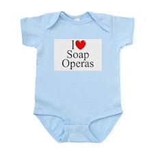 """""""I Love (Heart) Soap Operas"""" Infant Bodysuit"""