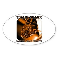 Team Snake Oval Decal