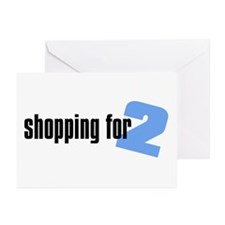 Shopping for Two, Boy Greeting Cards (Pk of 10