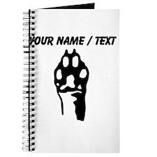 Custom Animal Paw Journal