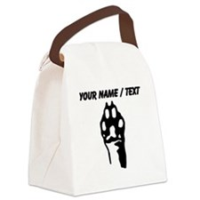 Custom Animal Paw Canvas Lunch Bag