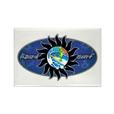 Lizard Surf Sun Rectangle Magnet (10 pack)