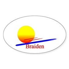 Braiden Oval Decal