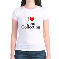 """I Love (Heart) Coin Collecting"" T"
