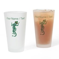 Custom Green Lizard Drinking Glass