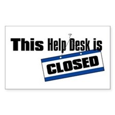 Help Desk Closed Rectangle Decal