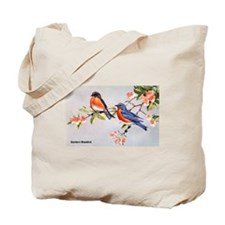Eastern Bluebird Bird Tote Bag