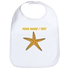 Custom Orange Starfish Bib
