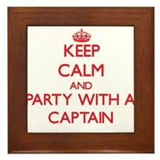 Keep Calm and Party With a Captain Framed Tile