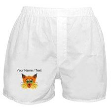 Custom Scared Cartoon Lynx Boxer Shorts