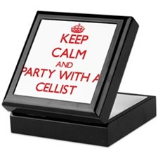 Keep Calm and Party With a Cellist Keepsake Box