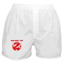 Custom Red Doves With Heart Boxer Shorts