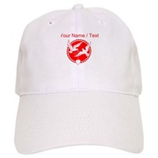 Custom Red Doves With Heart Baseball Baseball Cap