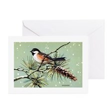 Chickadee Bird Greeting Cards (Pk of 10)