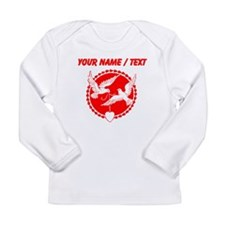 Custom Red Doves With Heart Long Sleeve T-Shirt