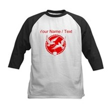 Custom Red Doves With Heart Baseball Jersey