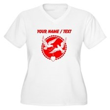 Custom Red Doves With Heart Plus Size T-Shirt
