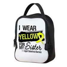 Sister Endometriosis Ribbon Neoprene Lunch Bag