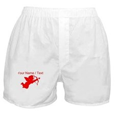 Custom Red Cupid Silhouette Boxer Shorts