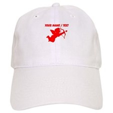 Custom Red Cupid Silhouette Baseball Cap