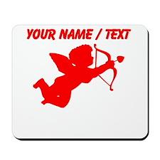 Custom Red Cupid Silhouette Mousepad