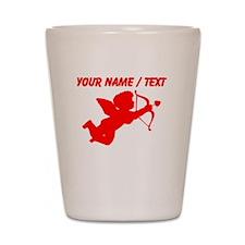 Custom Red Cupid Silhouette Shot Glass