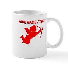 Custom Red Cupid Silhouette Mugs