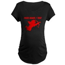 Custom Red Cupid Silhouette Maternity T-Shirt