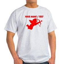 Custom Red Cupid Silhouette T-Shirt