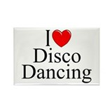 """I Love (Heart) Disco Dancing"" Rectangle Magnet"