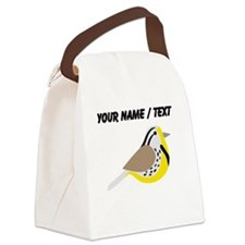 Custom Meadowlark Bird Canvas Lunch Bag