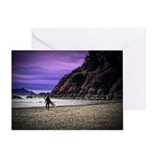 Moonstone Beach Surfer Greeting Card