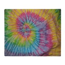 rainbow aura twirl tiedye pattern Throw Blanket