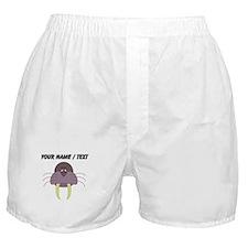 Custom Cartoon Walrus Boxer Shorts