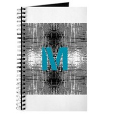 Teal Monogram Industrial Style Journal