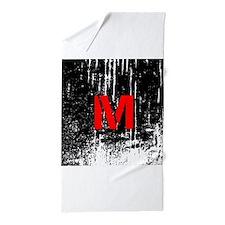 Industrial Style Monogram Beach Towel