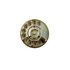 Antique phone dial Mini Button