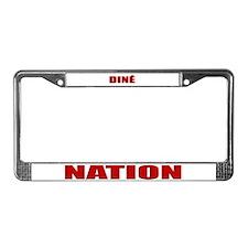 Dine' Nation License Plate Frame