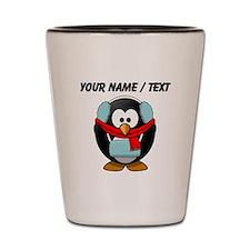 Custom Winter Penguin Shot Glass