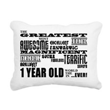 First Birthdays : Greate Rectangular Canvas Pillow