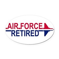 Funny Retired usaf Oval Car Magnet