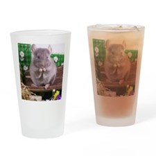 Chinchilla tan velvet  Drinking Glass