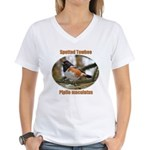 Spotted Towhee Women's V-Neck T-Shirt