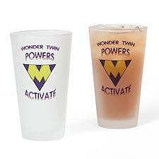 Wonder Twins Powers - M Drinking Glass