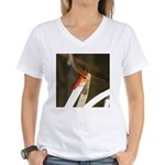 Red Dragonfly Women's V-Neck T-Shirt