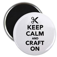 Keep calm and craft on Magnet